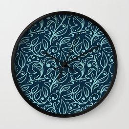Floral Leaf Pattern Wall Clock