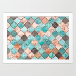 Moroccan pattern artwork print Art Print