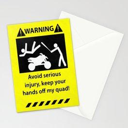 Quad Warning Stationery Cards