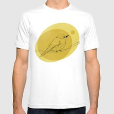 warbler Mens Fitted Tee White SMALL