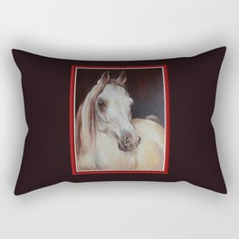 Arabian Horse on the dark background Rectangular Pillow