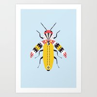 insect Art Prints featuring Insect by Alisha Jensen