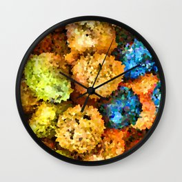 crystallized fruits Wall Clock