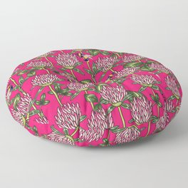 Red clover pattern Floor Pillow