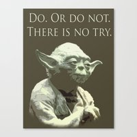 yoda Canvas Prints featuring Yoda by DisPrints