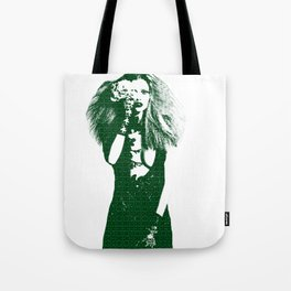 Fashion Lara Stone Calvin Klein Tote Bag
