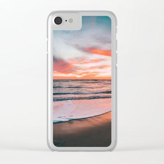 Sunset sky sea Clear iPhone Case