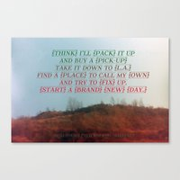 """neil young Canvas Prints featuring """"Out On The Weekend"""" by Neil Young by Melissa Martinez"""
