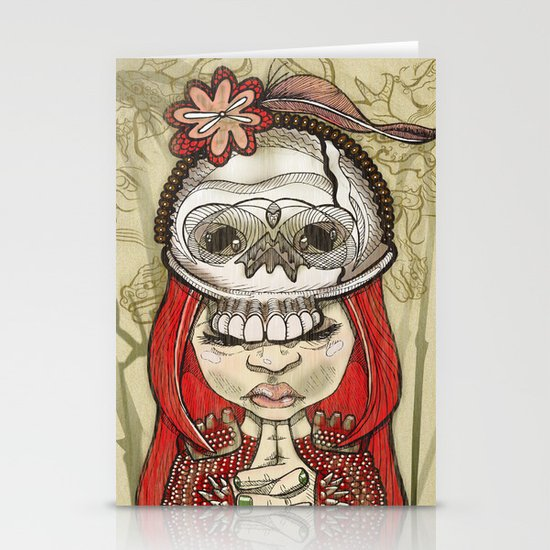 i wear my lucky skull Stationery Cards
