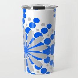 Blue Grey Burst Travel Mug