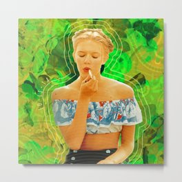 Lolita in Green Metal Print