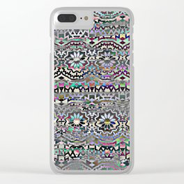 Bohemian colorful pattern, festyval style Clear iPhone Case