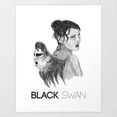 Black Swan I Art Print