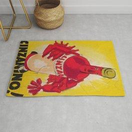 Vintage Cinzano Aperitif Cinzanonino Advertising Poster Rug