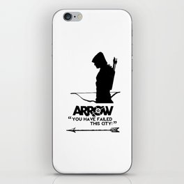 The Hood (Arrow) - Silhouette iPhone Skin