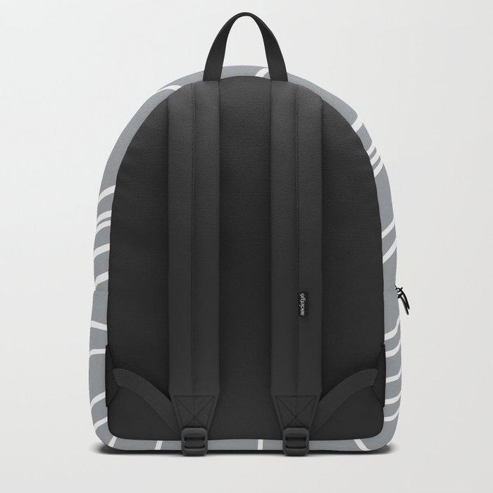 Cracked White on Grey Backpack