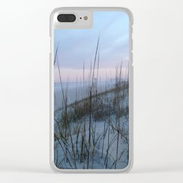 Soft sunset Clear iPhone Case
