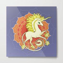 Vendel Unicorn - the sun Metal Print