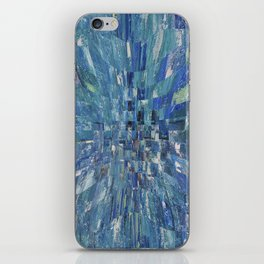 Abstract blue pattern 5 iPhone Skin