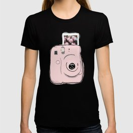 Pink Instax Camera with Photo T-shirt