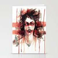vampire Stationery Cards featuring VAMPIRE by AkiMao