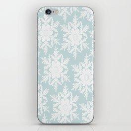 Wedgewood Blue Winter Christmas Snowflake Design iPhone Skin