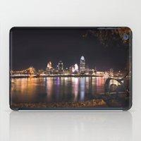 cincinnati iPad Cases featuring Cincinnati Glow by Stacey Cat