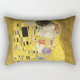 The Kiss - Gustav Klimt, 1907 Rectangular Pillow