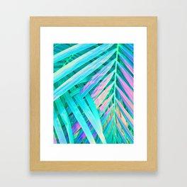 Palms Green Pink Framed Art Print