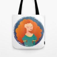 merida Tote Bags featuring Merida by Chelli Reyes