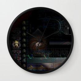 Engulfing the Iris Wall Clock