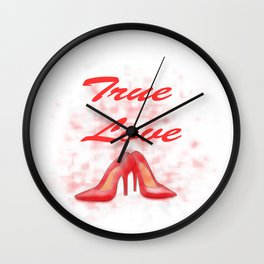 true love of shoes.  Wall Clock