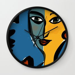 Staring at Matisse Wall Clock