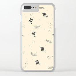 Scorpio Pattern - Beige Clear iPhone Case
