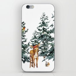 Christmas Winter Wonderland Fawn iPhone Skin
