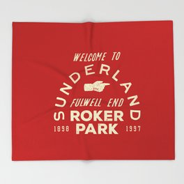 Roker Park Football Ground Throw Blanket