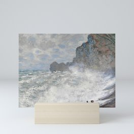 Rough weather at Etretat by Claude Monet, 1883 Mini Art Print