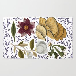 Magical plants and flowers Rug