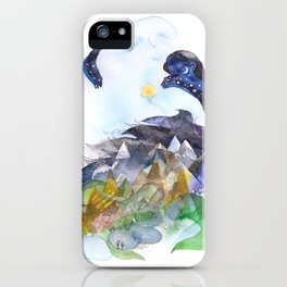 Day, night, mountains, love. iPhone Case