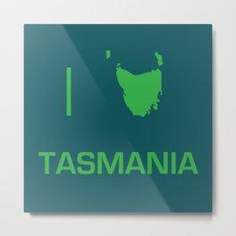 I heart Tasmania Metal Print
