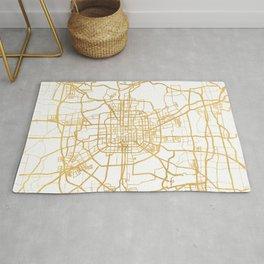 BEIJING CHINA CITY STREET MAP ART Rug
