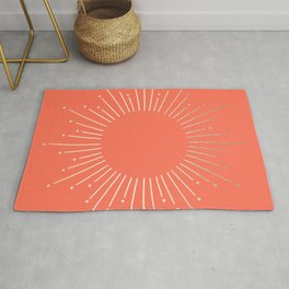 Simply Sunburst in Deep Coral Rug