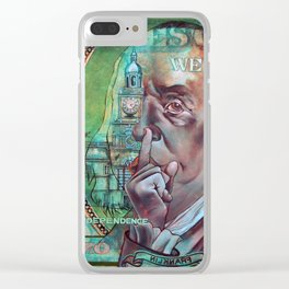 In Dependence We Trust Clear iPhone Case