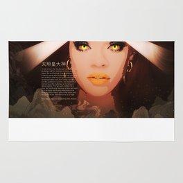 Rihanna as Japanese Deity Triptych (Amaterasu) Rug