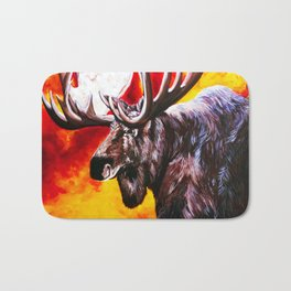 I'm NO Bambi Moose Bull Majestic Beautiful Colorful Bright Strong Powerful Nature Wildlife Hunter Bath Mat