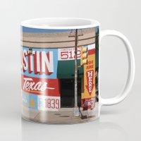 austin Mugs featuring Austin, TX by Black Oak ATX