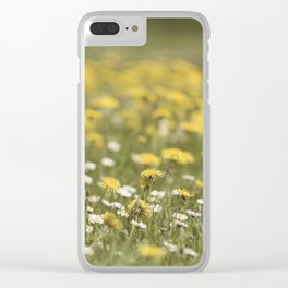 Meadow of happyness Spring flowers - Flower floral #Society6 Clear iPhone Case