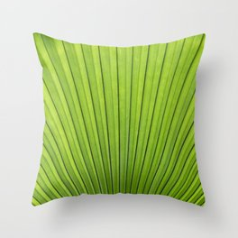 saw palmetto in sunlight Throw Pillow