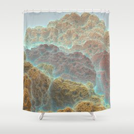 Coral Mountains Shower Curtain