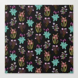 carnivorous plants black Canvas Print